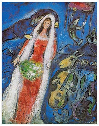 Artopweb TW19177 Chagall - La Mariee,1950 Dekorative Paneele, Multifarbiert, 53x68 Cm
