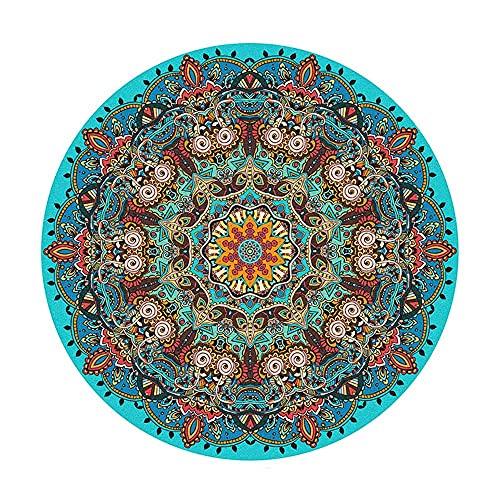 Hogreat Teppiche Teppich Bohème-Stil, Retro-Folk-Stil, runde weiche und Bequeme Home Schlafzimmer Nachtbett Computer Drehstuhl Fu?Polster (Gr??e:160) (Color : 160)