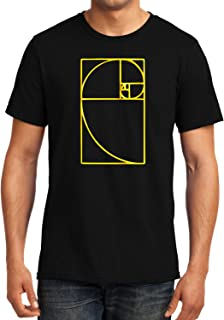 GeekDawn Graphic Printed T-Shirt|Golden Spiral|Fibonacci Spiral T-Shirt|Funny Quote T-Shirt|Geek T-Shirt|Math T-Shirt|Half Sleeve T-Shirt|Round Neck T-Shirt|100% Cotton T-Shirt|Gift|Gifting