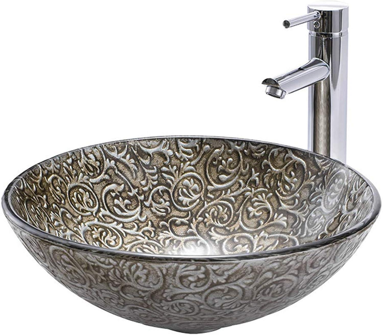 Badezimmer Waschbecken Ausgeglichenes Glas Kunst Becken Badezimmer Felsen Beschaffenheits Waschbecken