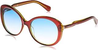 نظارات شمسية بيضاوية رمادية من البلاستيك للنساء من DVF