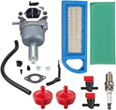 Coolwind 594593 Carburetor + Air Filter + Fuel Filter + Spark Plug Tune Up Kit for Briggs & Stratton 698620 799727 794572 791858 792358 793224 697190 697141 14hp 15hp 16hp 17hp 17.5 HP 18hp Lawn Mower