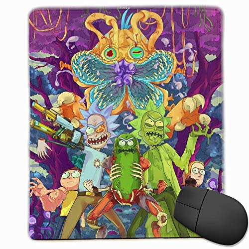 Rick and Morty Mouse Pad with Stitched Edge Waterproof Non-Slip Rubber Base Mousepad Superfine Textured for Computers, Laptop, Gaming, Office & Home