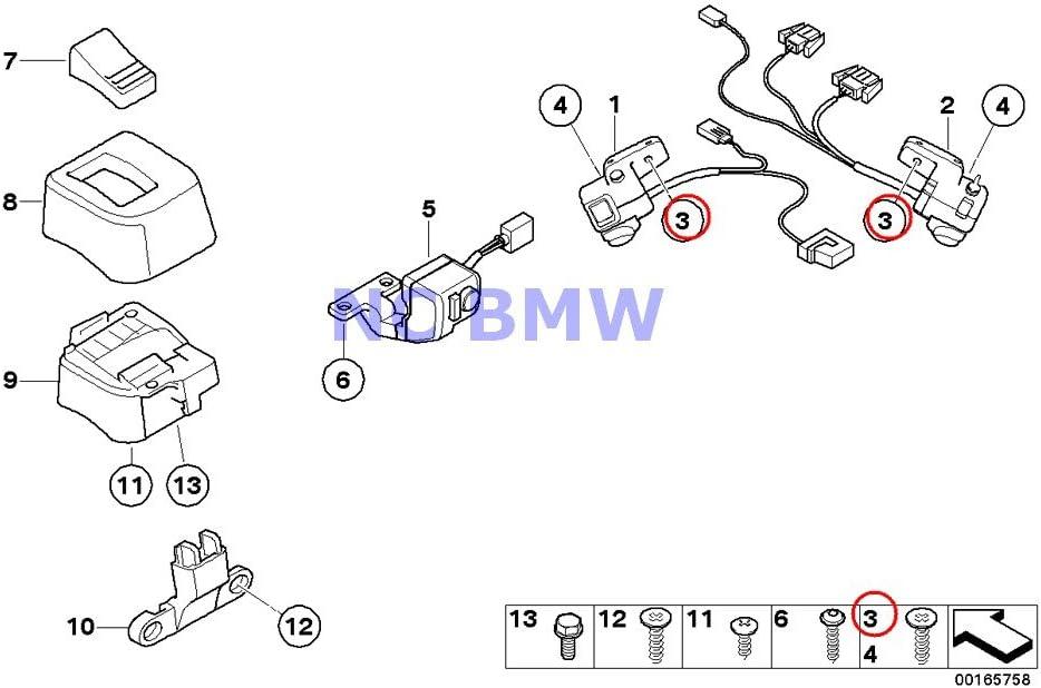 2 X New color BMW Genuine Motorcycle M4X10 Ranking TOP4 K1100LT Countersunk Head Screw