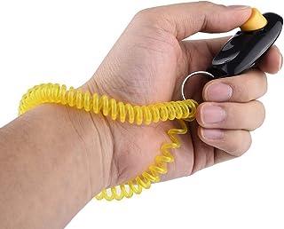 Sungpunet 1 clicker de dressage pour chien avec dragonne Noir + jaune