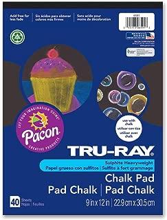 Tru-Ray Chalk Pad, Black, 9