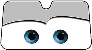 IDS Home Cartoon Eyes Front Auto Car Windshield Sun Shade Sun Visor Car Sun Shade Keep Vehicle Accessories ¡V Gray