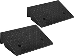 Factory Slope Pad Heavyweight Non-Slip Kerb Ramps Multiple Height Rubber Ramps Car Ramp Service for Trucks Caravans Car Size : 49.524.812CM AMYAL Curb Ramp