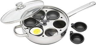 Kitchen Craft KCCVPOACH6 Clearview - Cazo de Acero Inoxidable para escalfar Huevos (6 Huecos, 28 cm)