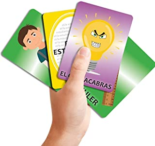 3-in-1 Vocab Grab! Classroom Nouns Spanish Card Game