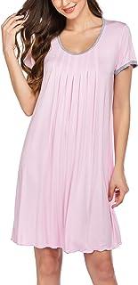 Women's Nightgown Short Sleeve Sleepwear Comfy Sleep...