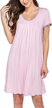 Ekouaer Women's Short Sleeve Sleepwear Nightgown