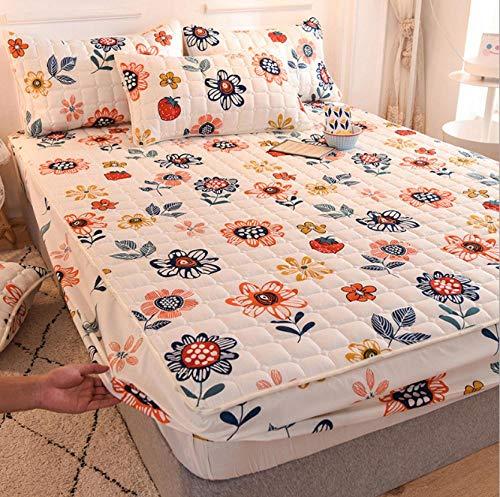 GSYHZL Spannbettlaken für Wasser- Boxspringbett,rutschfeste Bettlaken aus Polyesterfaser für Männer und Frauen, Gesteppte, verdickte, übergroße Bettdecken - I_180X200 cm + 25 cm