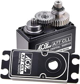 AGFrc 20KG Coreless Digital Servo Motor High Torque Metal Gear Standard RC Hobby Servo Motor for 1/8 1/10 RC Models (A77CLL)