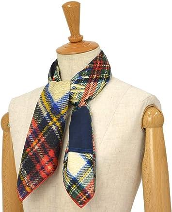 [Pierre Louis Mascia【ピエールルイマシア】]スカーフ ALOE65 44071シルク タータンチェック