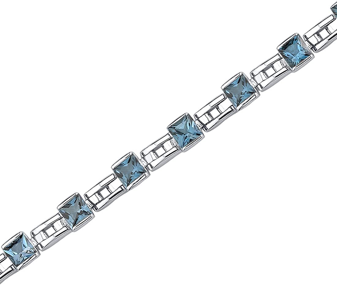 Peora Sterling Silver Tennis Bracelet 40% OFF Cheap Sale Women N Max 81% OFF Cut Princess for