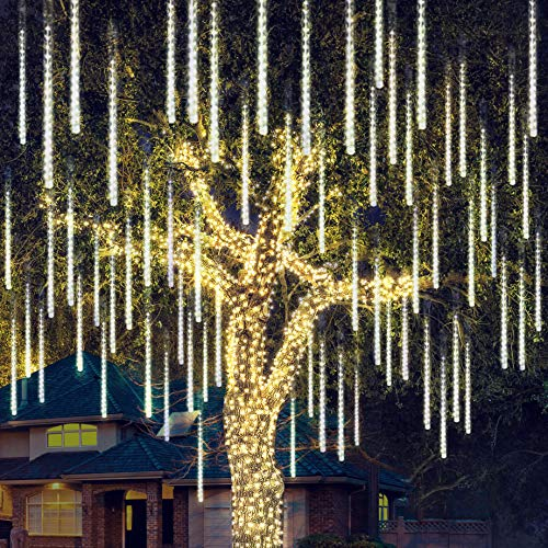 Joiedomi Christmas Meteor Shower Lights Falling Rain Drop Icicle String