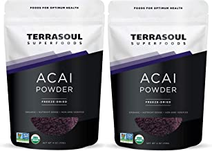 Terrasoul Superfoods Organic Acai Berry Powder, 8 Oz - Freeze-Dried | Antioxidants | Omega Fats
