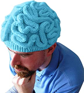 Kaniem Novelty Beanies,Unisex Adult Kids Funny Brain Circuits Crochet Beanie Head Cap for Halloween