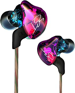 WishLotus Heavy Bass Headphones Balanced Armature + Dynamic Hybrid Driver Headsets Detachable Cable Hi-Fi in Ear Sports Earbuds Noise Cancelling Earphones (ZST dazzle color no Microphone)