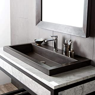 Native Trails NSL3619-S Native Stone Trough Bathroom Sink, 36