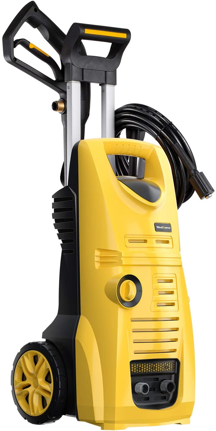 WestForce 3000 PSI Electric Pressure Washer, 1.85 GPM 1800 W Electric Power Washer, High-Pressure Cleaner Machine with 5 Nozzles, Hose Reel, Foam Bottle for Homes, Cars, Driveways, Patios