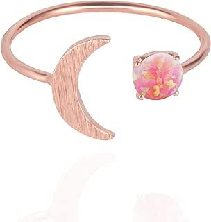 opal moon ring