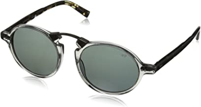John Varvatos Mens V605 V605BLA50 Polarized Round Sunglasses