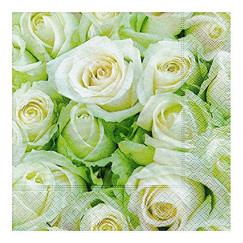 Servietten - Weiße Rosen