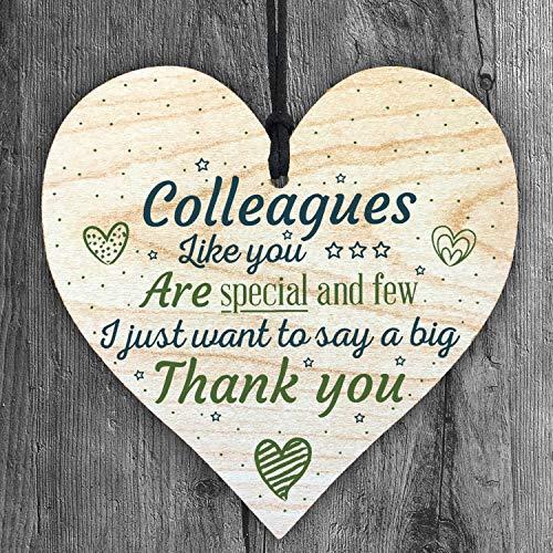 Resmoni Colleagues Like You Are Special and Pocos Quiero Decir un Gran Agradecimiento Placa de Madera Colgante con Forma de corazón para Regalar a Mejores Amigos