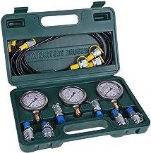 Hydraulische druktestset, VBESTLIFE digitale hydraulische metertestonderdelen met koppelingen, slangen, manometers voor gr...
