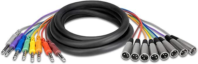 Hosa STX-803M Balanced Snake, 1/4 in TRS to XLR3M, 3 m