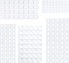 Elastische buffer transparant, 195 stuks rubberen voetjes zelfklevend, (5 maten) stootbuffer bumperpads, deurbuffer meubel...