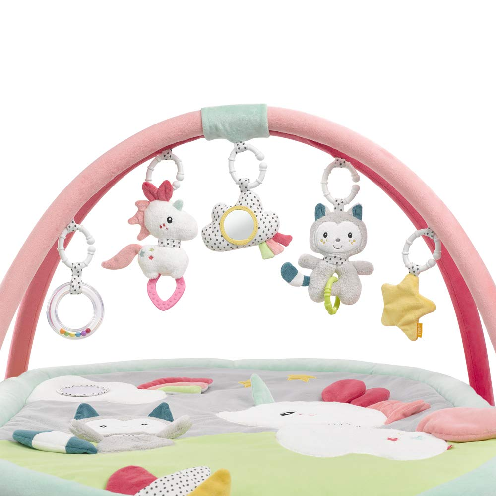 dise/ño de mariquita multicolor Manta de actividades para beb/é Fehn