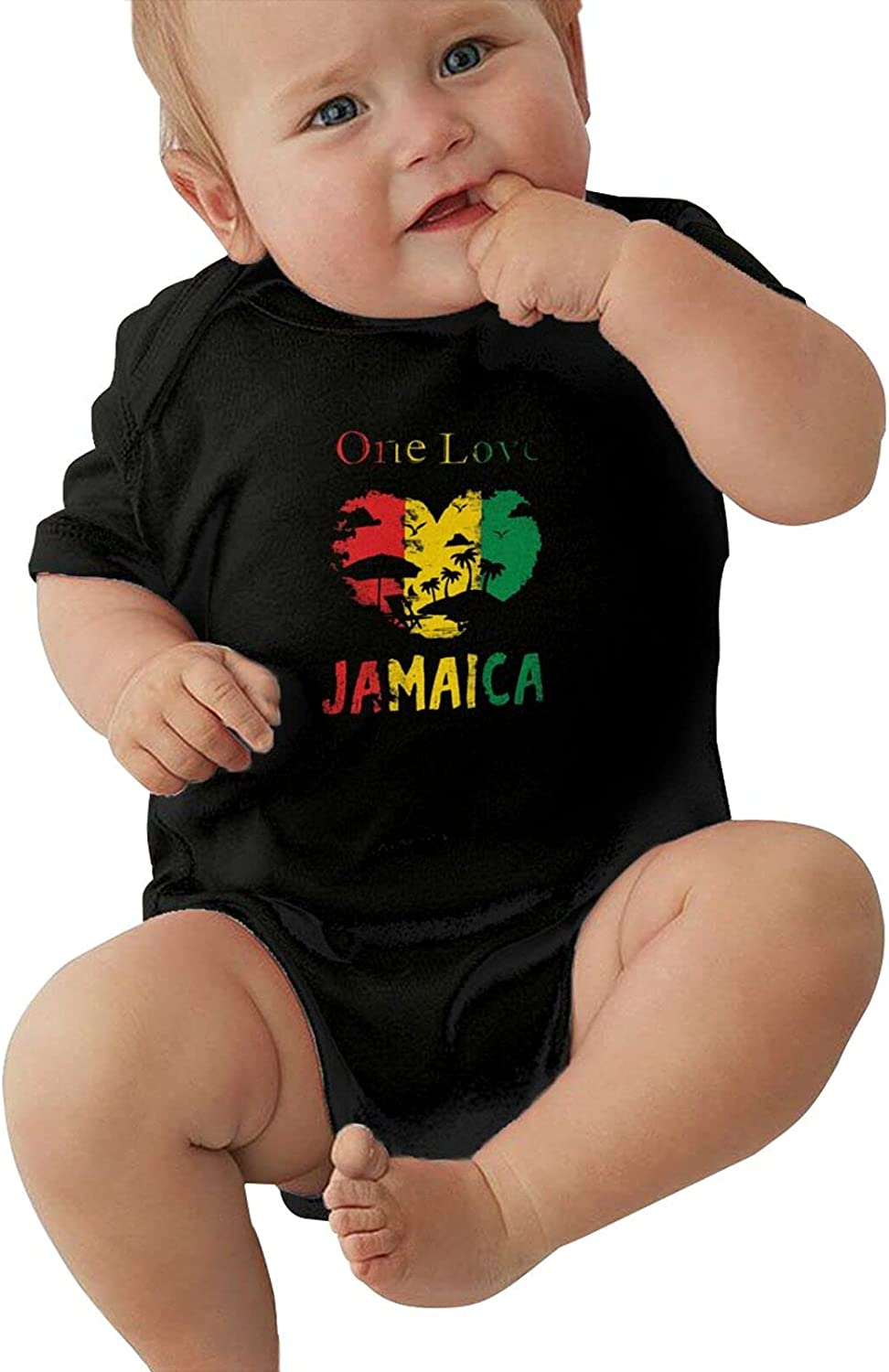 Jamaica One Love Max 69% OFF Babys Jersey Bodysuit Cool Romper Super beauty product restock quality top Sleeve Short
