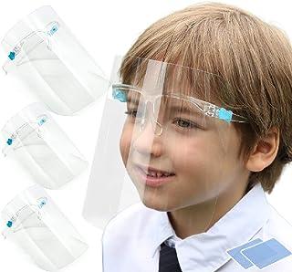 OLOA 【 子供 キッズ 3枚組 】 フェイスシールド メガネ タイプ 眼鏡型 [日本国内企業で検品・発送 | 満足保証、返金保証あり] カバー 軽い 軽量 曇り止め フェイスガード 保護 フィルム (3)