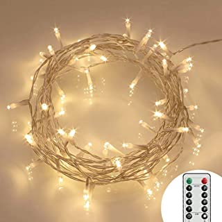 Koopower [Remote and Timer 40 LED Outdoor Fairy Lights - 8 Modes Battery Operated Strings (120 Hours of Lighting,IP65 Wate...
