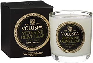 Voluspa Vervaine Olive Leaf Maison Votive Glass Candle, 3 Ounces