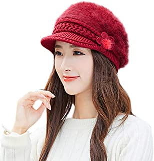 Beret Cap, Women Winter Warm Leopard Print Fashion British Style Hat,Wonderful Gifts