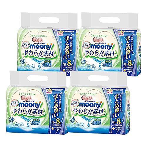 【おしりふき 】ムーニーやわらか素材 純水99% 詰替 2560枚(80枚×32) [ケース品]