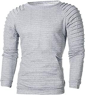 MISYAA Tank Tops for Men Long Sleeve Color Match Shirt Stripes Sweater Sport Shirt Sweatshirt Tank Mens Tops