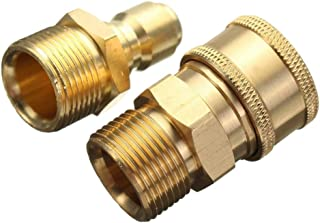 """1 Pair 3/8"""" Quick Release Adapter Connect To M22 Metric Twist Pressure Washer"""