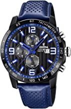 Festina 'The Originals Collection' Men's Quartz Watch with Black Dial Chronograph Display and Blue Leather Strap F20339/4