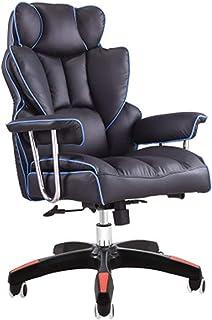Wsaman Silla Escritorio Oficina Ergonómica Regulable Silla Gaming Profesional con Reposabrazos para Hogar Oficina,Azul