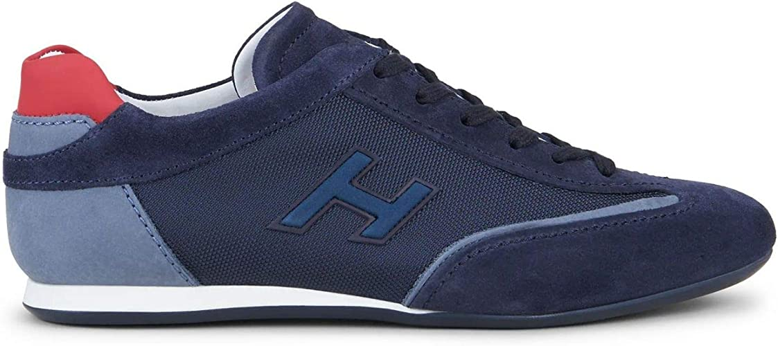 Hogan - Mens Olympia Blue Suede Sneakers - HXM05201684N6Z50CH ...