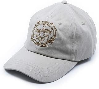 Ford Heritage Logo Vintage Hat Cotton Twill Jockey Structured Hat Cap Khaki