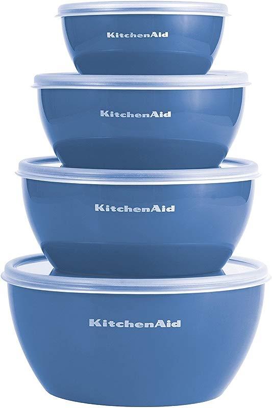 Kitchenaid Prep Bowls With Lids Set Of 4 Ocean Blue