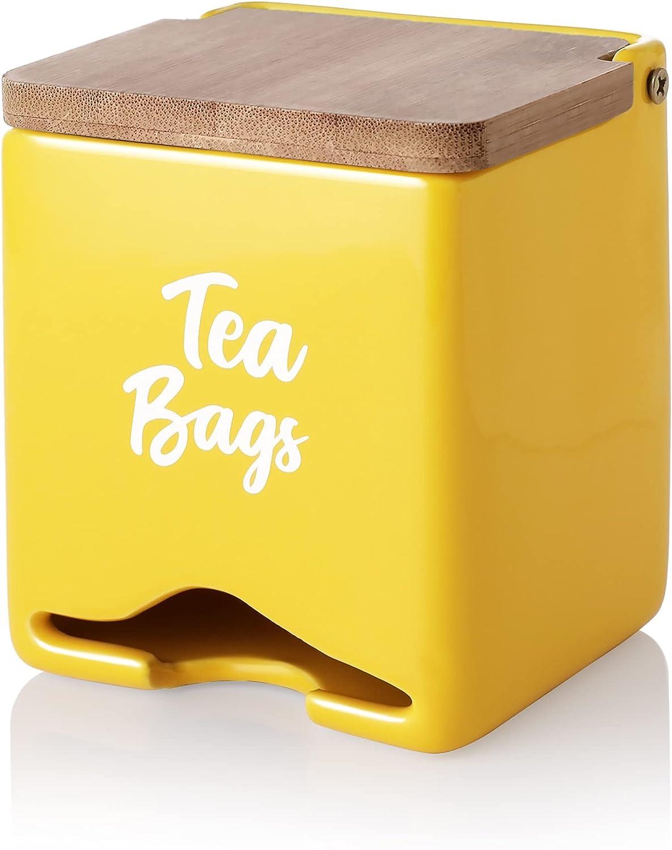 Sweese 230.105 Charlotte Mall Over item handling ☆ Porcelain Tea Bag Holder Organizer Caddy Storage