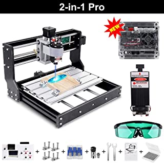 CNC Fr/äsmaschine Laser Engraving Machine 3018 Pro Max GRBL Steuerung Perfektes Set f/ür Anf/änger und HobbyHolz Router Stecher mit Offline-Controller XYZ Arbeitsbereich 300x180x45mm