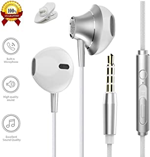 Edworder Earphones, Himagic Wired Stereo Earbuds Headphones with MIC & Remote Control for iPhone 6s Plus/6s/iPad/Macbook, Samsung Galaxy S9/S9+/S8 Plus and More 3.5mm Interface Devices